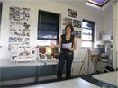 student taking presentation