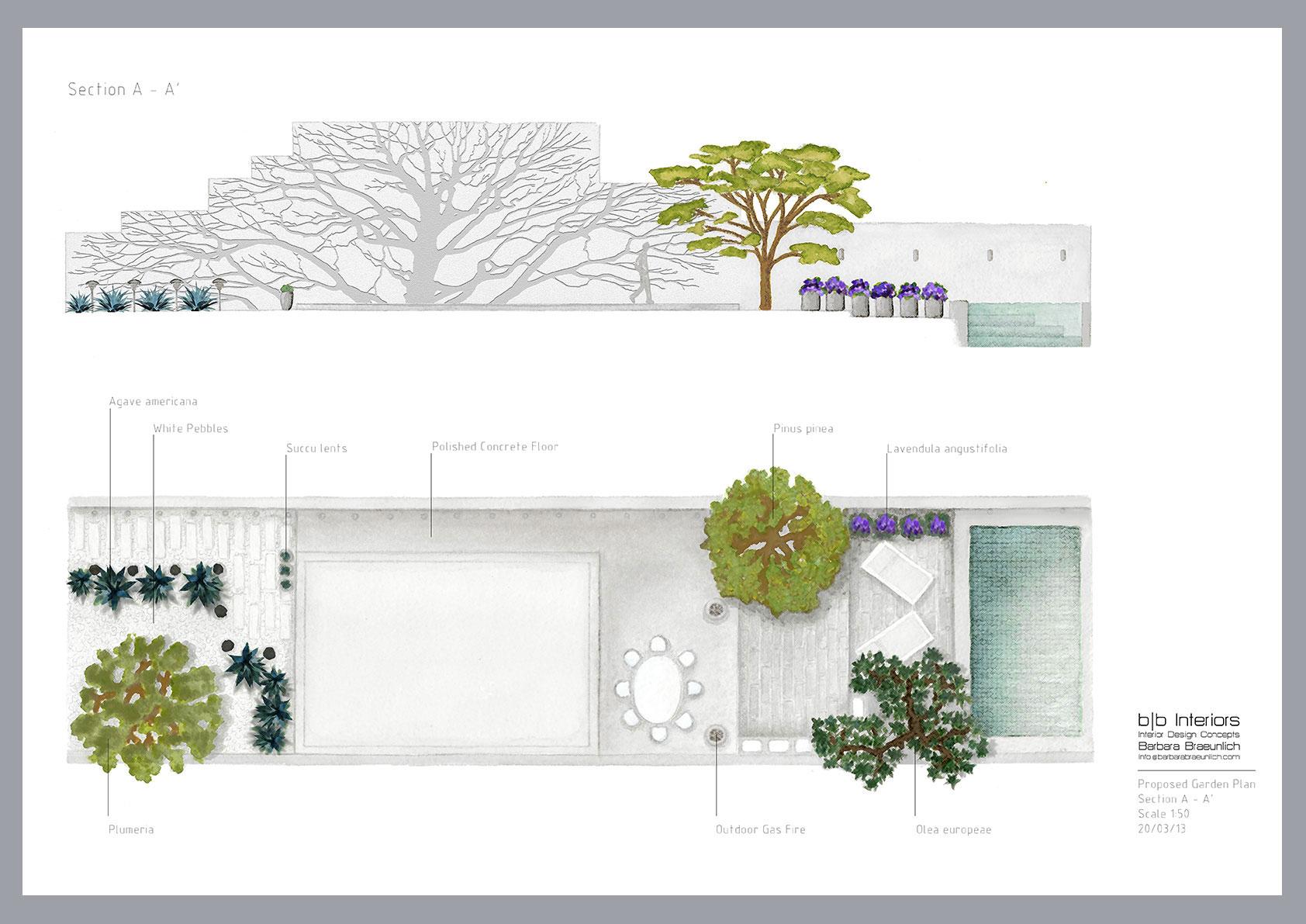 Garden Plan by Barbara Braeunlich, Student at JJAADA