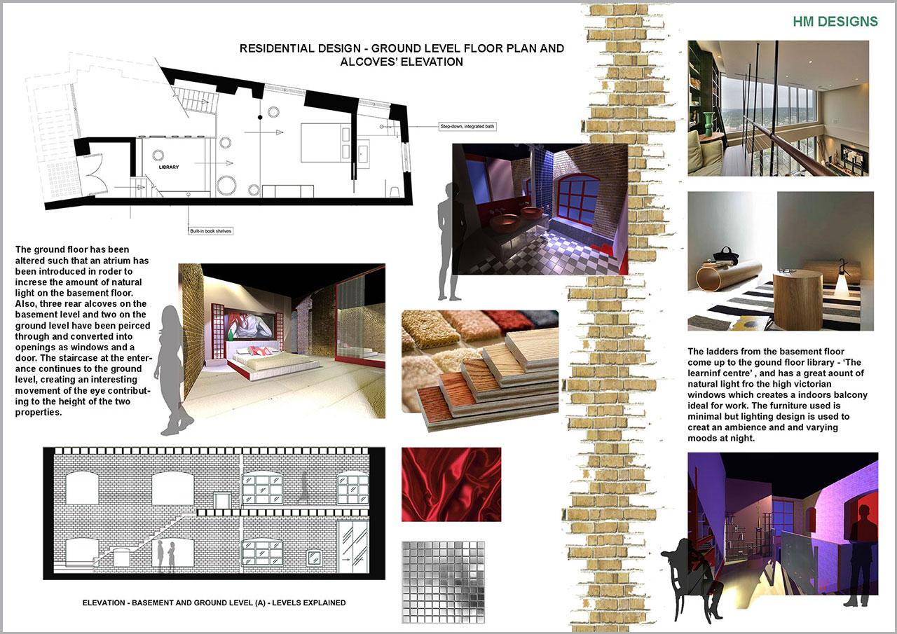 Residential ground halelema malik jjaada academy interior design courses london for Interior design training programs