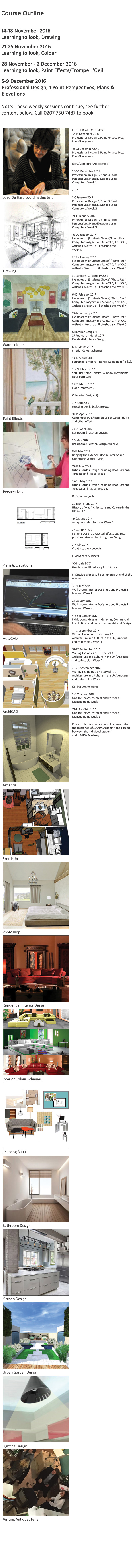 online interior design diploma